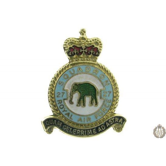 27 Squadron Royal Air Force Lapel Badge RAF