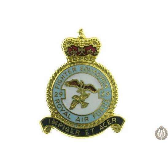 29 Fighter Squadron Royal Air Force Lapel Badge RAF