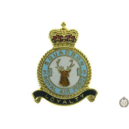33 Squadron Royal Air Force Lapel Badge RAF