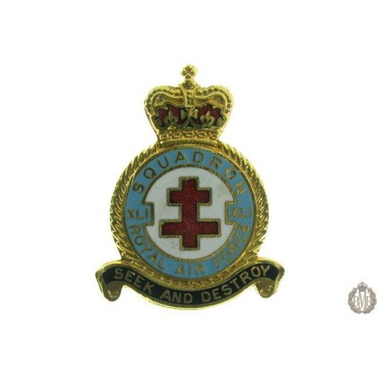 41 (XLI) Squadron Royal Air Force Lapel Badge RAF