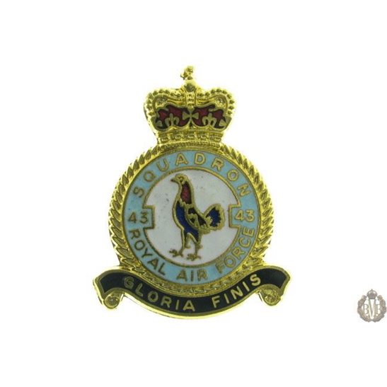 43 Squadron Royal Air Force Lapel Badge RAF