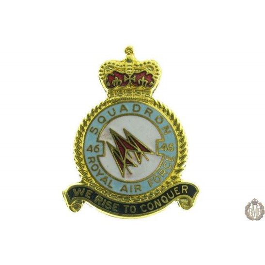 46 Squadron Royal Air Force Lapel Badge RAF