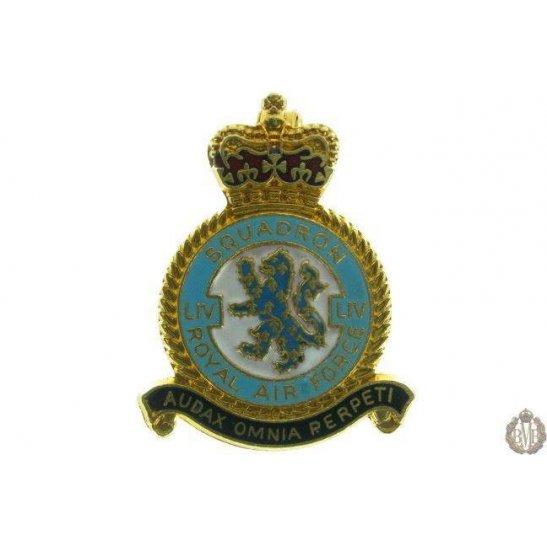 54 (LIV) Squadron Royal Air Force Lapel Badge RAF