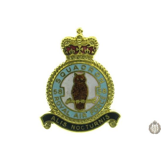 58 Squadron Royal Air Force Lapel Badge RAF