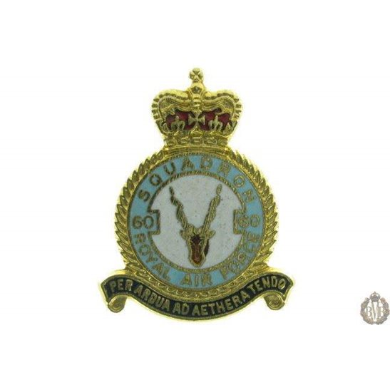 60 Squadron Royal Air Force Lapel Badge RAF
