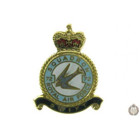 72 Squadron Royal Air Force Lapel Badge RAF