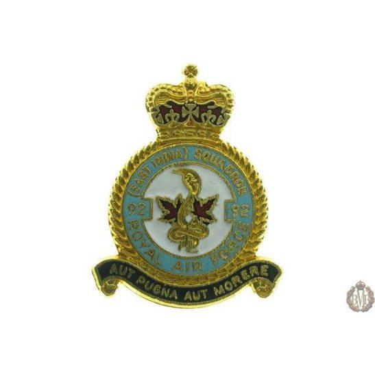 92 (East India) Squadron Royal Air Force Lapel Badge RAF