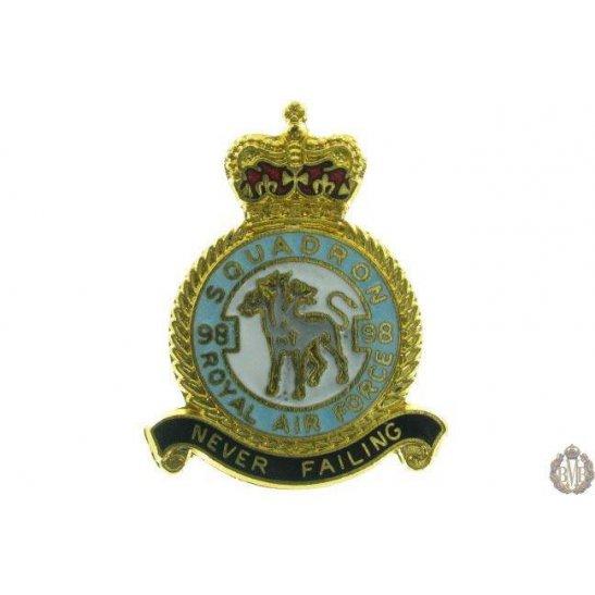 98 Squadron Royal Air Force Lapel Badge RAF