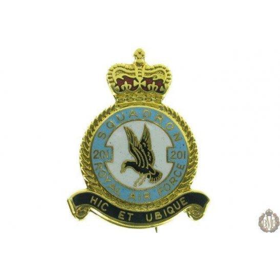 201 Squadron Royal Air Force Lapel Badge RAF