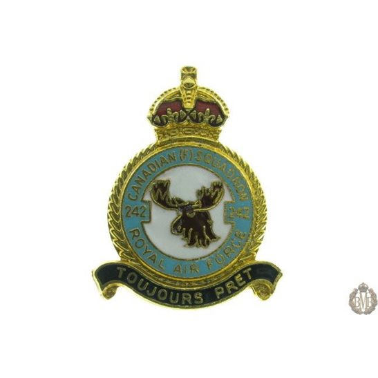 242 (Canadian) Squadron Royal Air Force Lapel Badge RAF