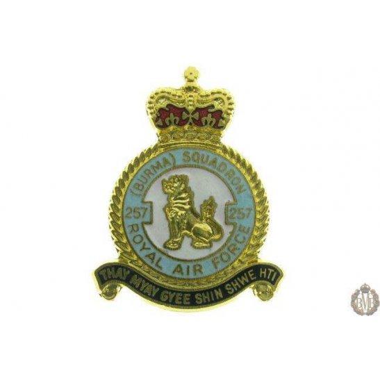 257 (Burma) Squadron Royal Air Force Lapel Badge RAF