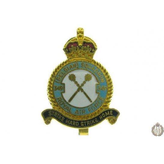 349 (Belgian) Squadron Royal Air Force Lapel Badge RAF