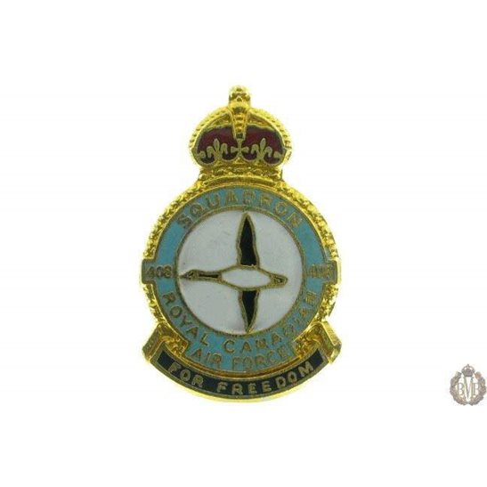 408 Squadron Royal Canadian Air Force Lapel Badge RCAF