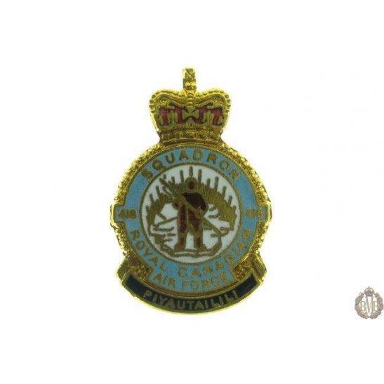 418 Squadron Royal Canadian Air Force Lapel Badge RCAF