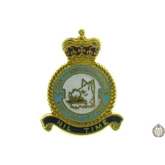 501 Auxiliary Squadron Royal Air Force RAF Lapel Badge