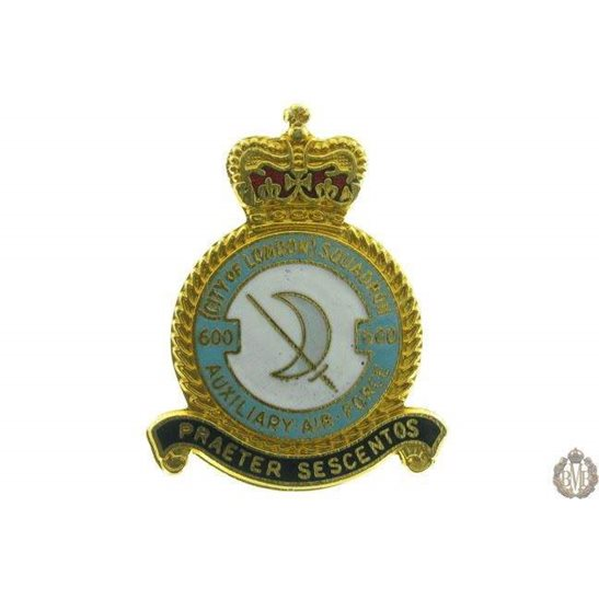 600 Auxiliary Squadron Royal Air Force Lapel Badge