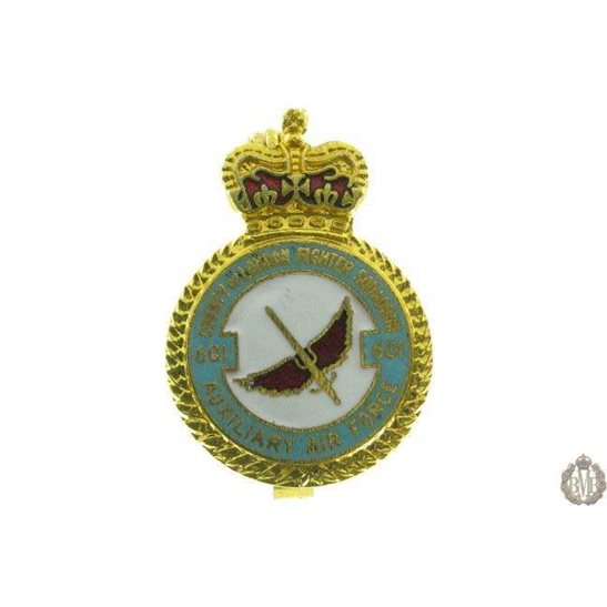 601 Auxiliary Squadron Royal Air Force Lapel Badge