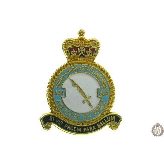 604 Auxiliary Squadron Royal Air Force RAF Lapel Badge