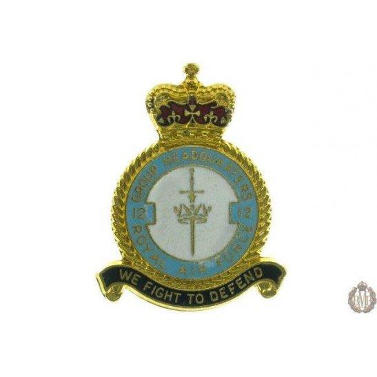 12 Group Headquarters Royal Air Force RAF Lapel Badge