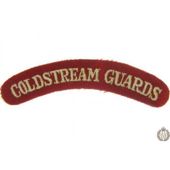 1I/140 - Coldstream Guards Regiment Cloth Shoulder Title
