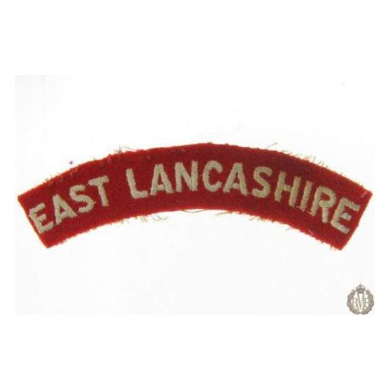1I/145 - East Lancashire Regiment Cloth Shoulder Title