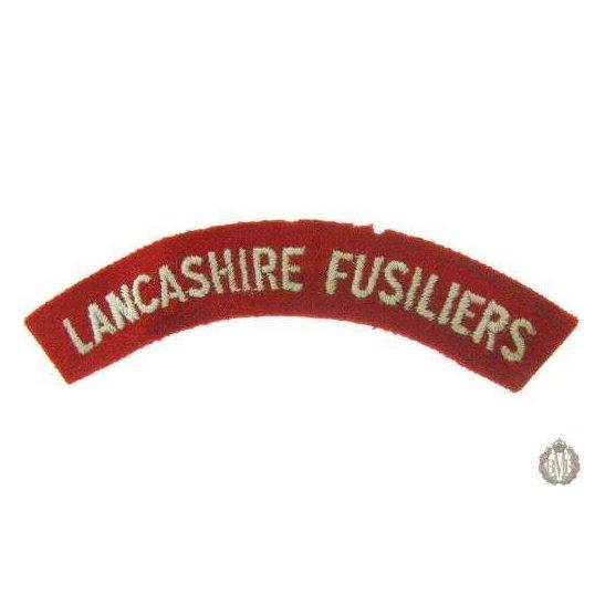 1I/148 - Lancashire Fusiliers Regiment Cloth Shoulder Title