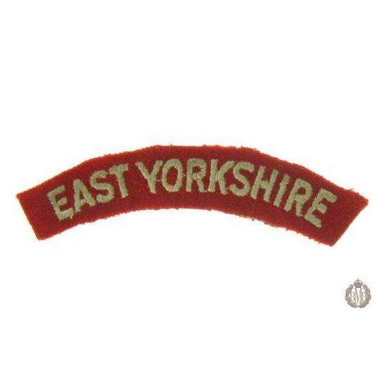 1I/149 - East Yorkshire Regiment Cloth Shoulder Title