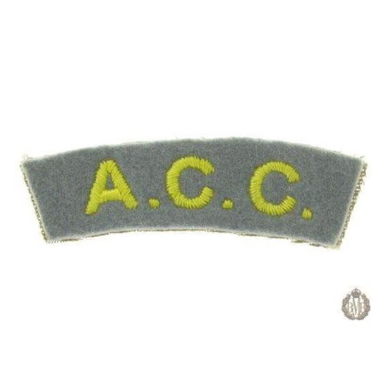 1I/161 - The Army Catering Corps ACC Cloth Shoulder Title
