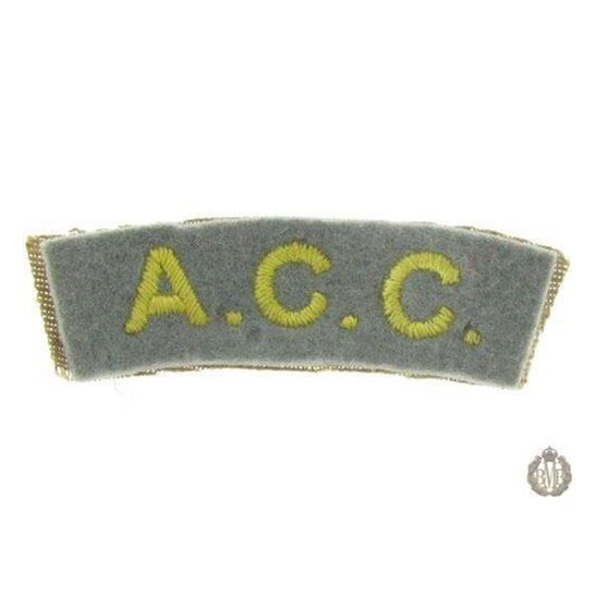 1I/165 - The Army Catering Corps ACC Cloth Shoulder Title