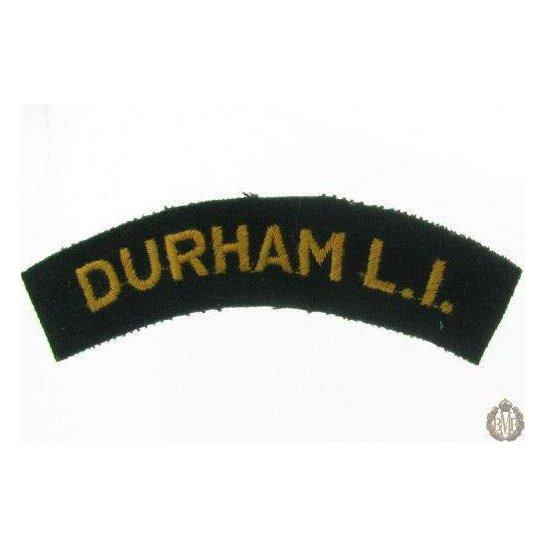 1I/168 - Durham Light Infantry DLI Regiment Cloth Shoulder Title