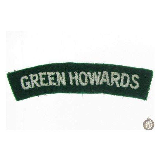 1I/174 - The Green Howards Regiment Cloth Shoulder Title