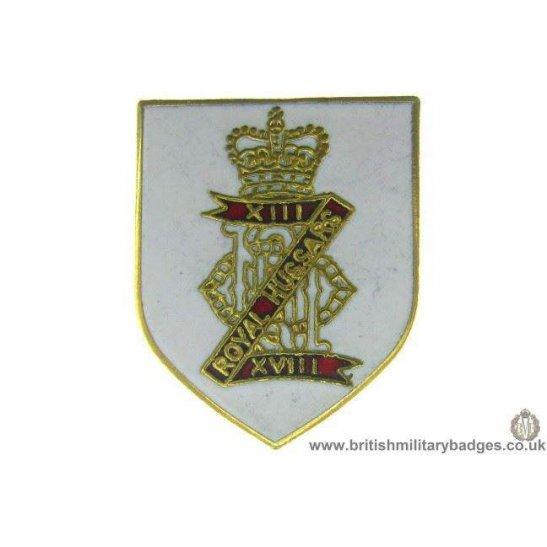 S1A/21 - 13th / 18th Royal Hussars Regiment Lapel Badge