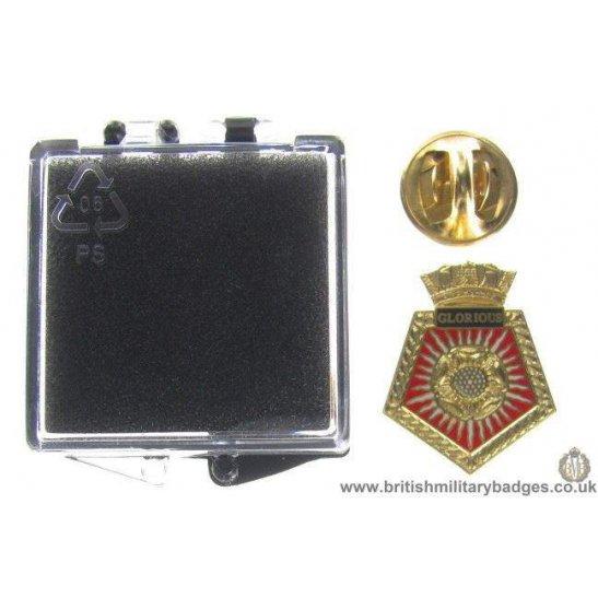 S1A/83 - HMS Glorious Royal Navy Veteran's Lapel Badge & Box