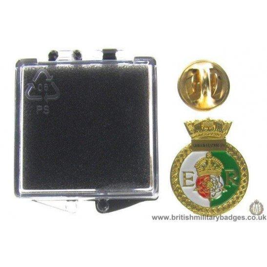 S1A/84  HMS Queen Elizabeth Royal Navy Veteran Lapel Badge & Box