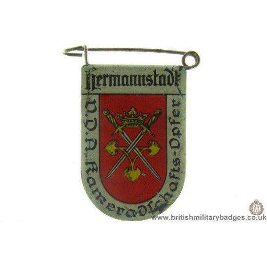 J1A/38: VDA Hermnnstadt German Metal Donation Lapel Badge