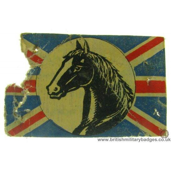 K1B/07 - WW1 British Army Horses Fund Charity Flag Day Pin Badge