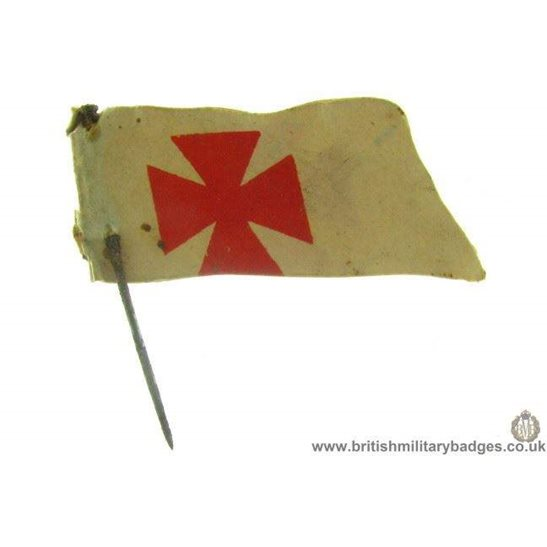 K1B/16 - UNKNOWN Maltese Red Cross Charity Flag Day Pin Badge
