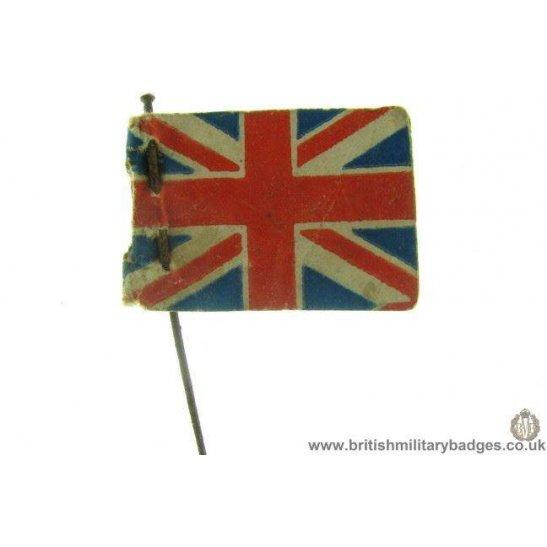 K1B/25 - Union Jack British Soldiers War Fund Flag Day Pin Badge