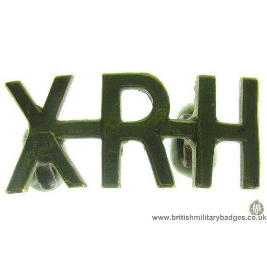C1D/16 - 10th Royal Hussars Regiment XRH Shoulder Title