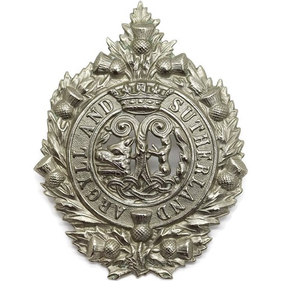 Argyll and Sutherland Highlanders Argyll and Sutherland Highlanders Regiment Cap Badge
